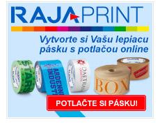 rajaprint - lepiace pásky s vlastnou potlačou